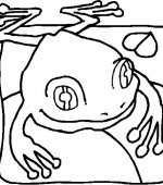 coloriage grenouille 005