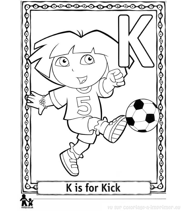 Letter K Coloring Pages Worksheets and Color Posters