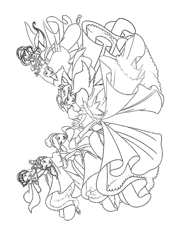 coloriage princesses