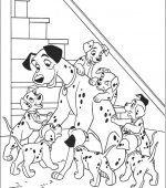 coloriage 101 Dalmatiers 015