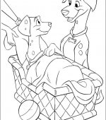 coloriage 102 Dalmatiers 001