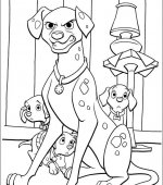 coloriage 102 Dalmatiers 012