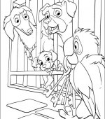 coloriage 102 Dalmatiers 014