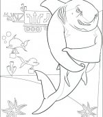 coloriage Gang de requins 003