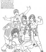 coloriage High School Musical 004