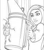 coloriage bee movie 001