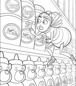 coloriage bee movie 011