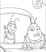 coloriage bee movie 012
