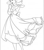 coloriage cendrillon 001