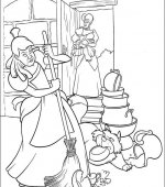 coloriage cendrillon 008