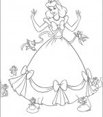 coloriage cendrillon 014