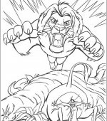 coloriage le rois lion 005