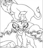 coloriage le rois lion 007