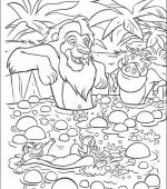 coloriage le rois lion 009