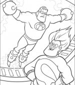 coloriage les incredibles 009