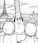 coloriage ratatouille 034