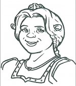 coloriage shrek 001