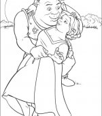 coloriage shrek 012
