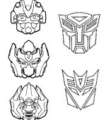 coloriage transformers 002