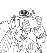 coloriage wall-e 002