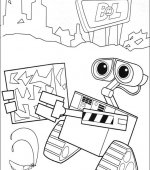 coloriage wall-e 033