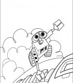 coloriage wall-e 036