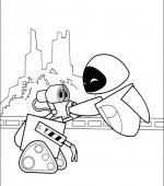 coloriage wall-e 038