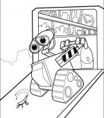 coloriage wall-e 040