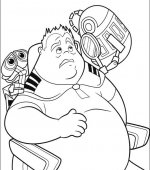 coloriage wall-e 045