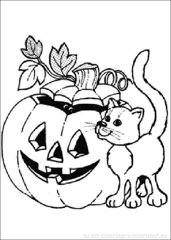 Coloriage à Imprimer Coloriage Halloween 087