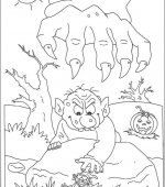 coloriage halloween 070