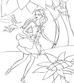 coloriage barbie fairytopia 009