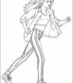 coloriage barbie 008