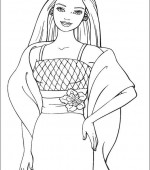 coloriage barbie 015