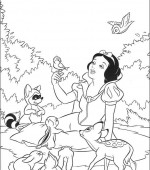 coloriage blanche-neige 001