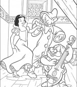 coloriage blanche-neige 004