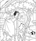 coloriage blanche-neige 011