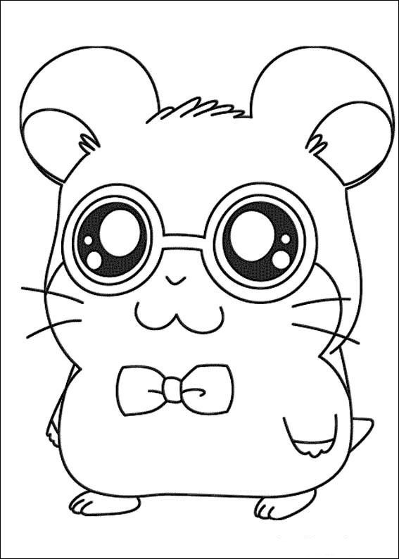 Coloriage Hamster Kawaii.Index Of Coloriages Heros Tv Hamtaro Petits Hamsters