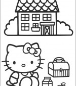 coloriage hello kitty 001