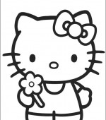 coloriage hello kitty 008