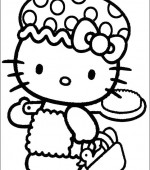 coloriage hello kitty 012
