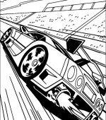 coloriage hot wheels 005