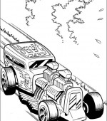 coloriage hot wheels 011