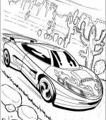 coloriage hot wheels 012
