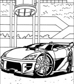 coloriage hot wheels 019