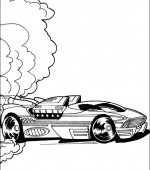 coloriage hot wheels 028
