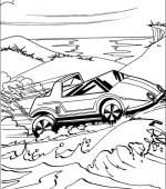 coloriage hot wheels 035