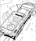 coloriage hot wheels 040