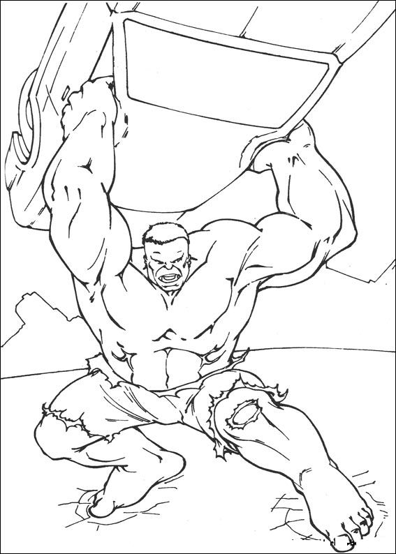 Index Of Coloriages Heros Tv Hulk