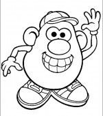 coloriage mr potato head 029